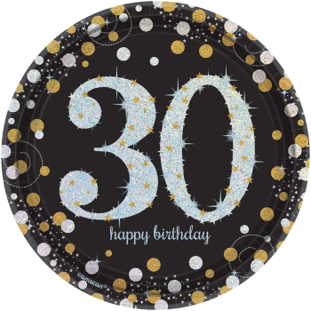 "Picture of 30th - SPARKLING CELEBRATION  7"" PRISM PLATE"