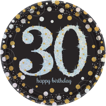 "Picture of 30TH - SPARKLING CELEBRATION 9"" PRISM PLATE"