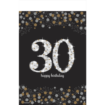 Picture of 30th - SPARKLING CELEBRATION PLASTIC TABLE COVER