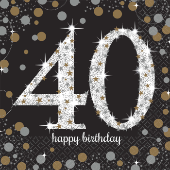 Picture of 40th - SPARKLING CELEBRATION - LUNCHEON NAPKIN