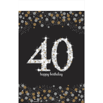 Picture of 40th - SPARKLING CELEBRATION PLASTIC TABLE COVER