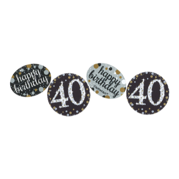 Picture of 40th CONFETTI - BLACK/GOLD/SILVER