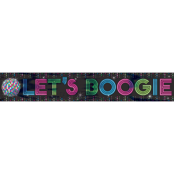 Picture of 70'S - LET'S BOOGIE FOIL BANNER 25'
