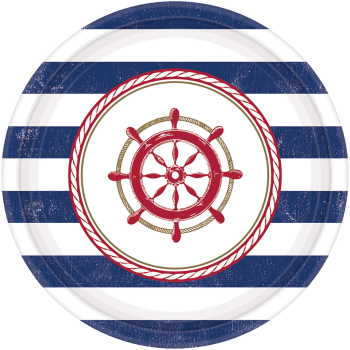 """Image de TABLEWARE - ANCHORS AWEIGH 7"""" PLATE"""