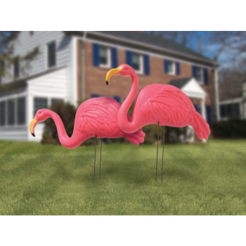 Picture of PINK FLAMINGO YARD STAKES  2CT