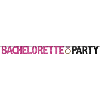 Picture of BACHELORETTE PARTY GLITTER LETTER BANNER