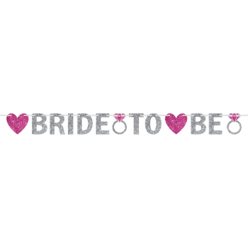 Picture of BRIDE TO BE GLITTER LETTER BANNER