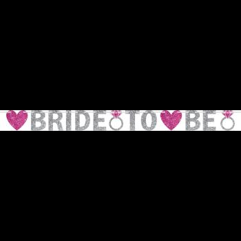Image de BRIDE TO BE GLITTER LETTER BANNER