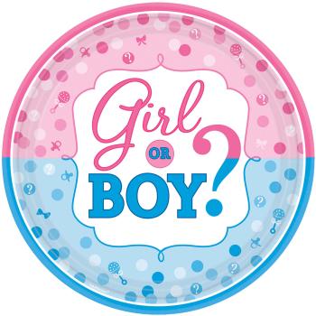 """Image de GENDER REVEAL - GIRL OR BOY?  10"""" PLATE"""