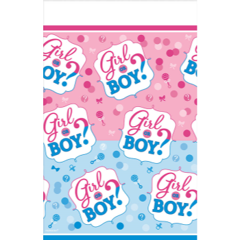 Picture of GENDER REVEAL - GIRL OR BOY?  TABLE COVER