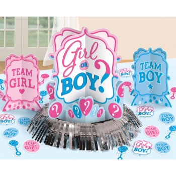 Picture of GENDER REVEAL - GIRL OR BOY?  TABLE DECO KIT