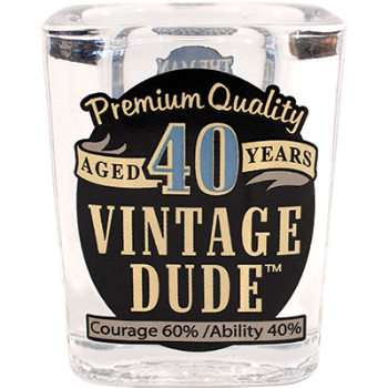 Picture of 40th VINTAGE DUDE SHOT GLASS