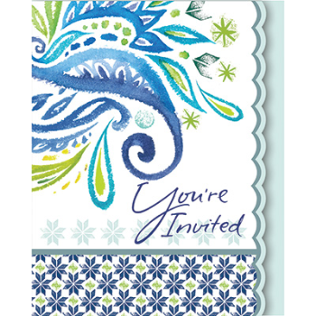 Picture of PEACOCK PAISLEY  INVITATIONS