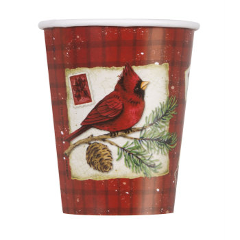 Picture of TABLEWARE - CARDINAL CHRISTMAS - 9oz CUPS