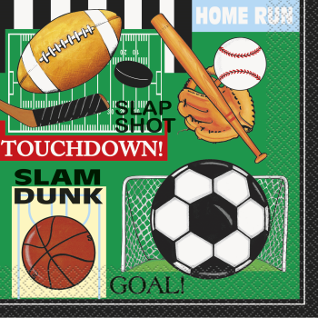 Picture of SPORTS - CLASSIC SPORTS - VALUE LUNCHEON NAPKINS