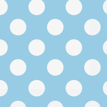 Picture of LIGHT BLUE DOTS LUNCHEON NAPKIN