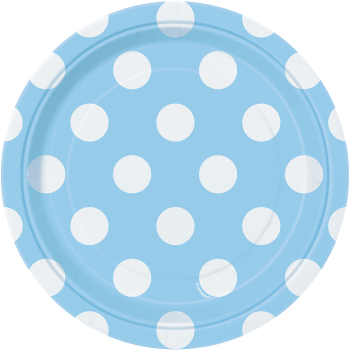 """Picture of LIGHT BLUE DOTS  7"""" PLATES"""