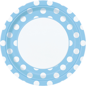 "Picture of BLUE DOTS  9"" PLATES"