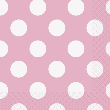 Picture of LIGHT PINK DOTS  BEVERAGE NAPKIN