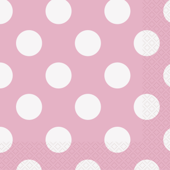 Picture of LIGHT PINK DOTS  LUNCHEON NAPKIN