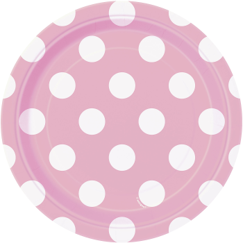 """Picture of LIGHT PINK DOTS  7"""" PLATES"""