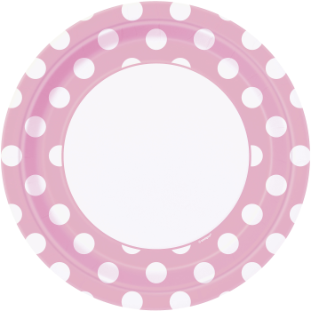 """Picture of LIGHT PINK DOTS  9"""" PLATES"""