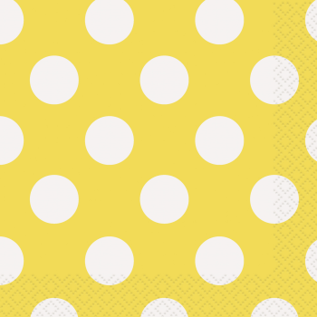 Picture of YELLOW DOTS  BEVERAGE NAPKIN