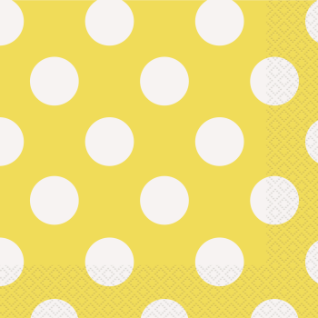 Picture of YELLOW DOTS  LUNCHEON NAPKIN