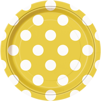 """Picture of YELLOW DOTS  7"""" PLATES"""