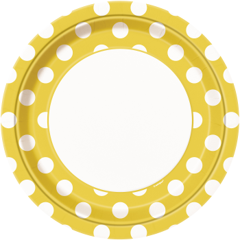 """Picture of YELLOW DOTS  9"""" PLATES"""