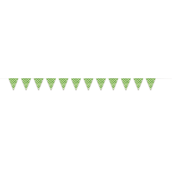 Picture of LIME GREEN DOTS 12'  FLAG BANNER