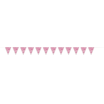 Picture of HOT PINK DOTS 12'  FLAG BANNER