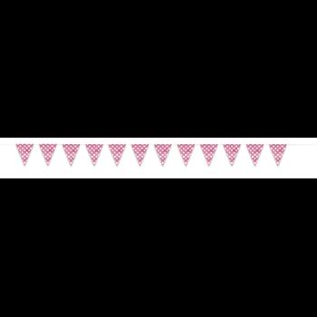 Image de HOT PINK DOTS 12'  FLAG BANNER