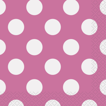 Picture of HOT PINK DOTS  BEVERAGE NAPKIN