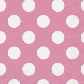 Picture of HOT PINK DOTS  LUNCHEON NAPKIN