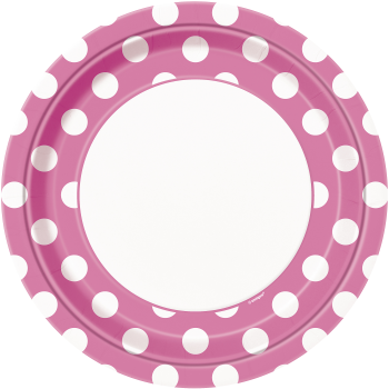 """Picture of HOT PINK DOTS  9"""" PLATES"""