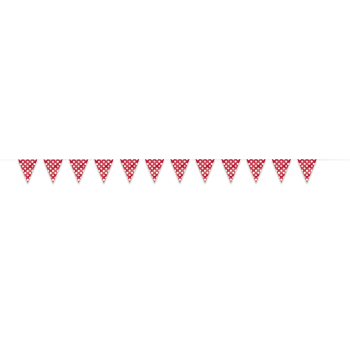 Picture of RED DOTS 12'  FLAG BANNER
