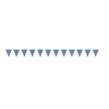 Picture of ROYAL BLUE DOTS 12'  FLAG BANNER
