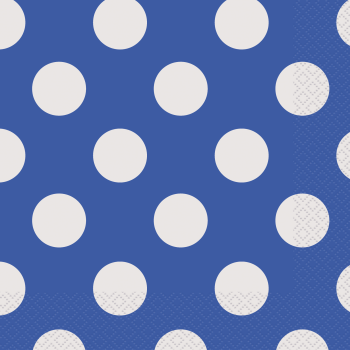 Picture of ROYAL BLUE DOTS  LUNCHEON NAPKIN