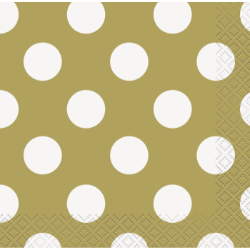 Picture of GOLD DOTS  BEVERAGE NAPKIN