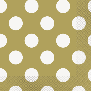 Picture of GOLD DOTS  LUNCHEON NAPKIN