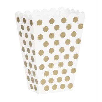 Picture of GOLD DOTS TREAT BOXES 8CT