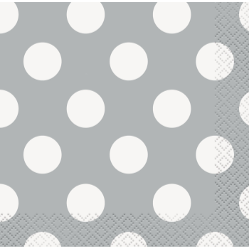 Picture of SILVER DOTS  BEVERAGE NAPKIN