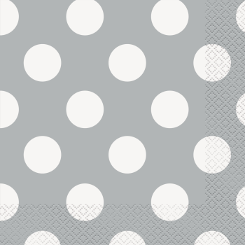 Picture of SILVER DOTS  LUNCHEON NAPKIN