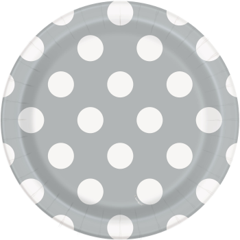 """Picture of SILVER DOTS  7"""" PLATES"""