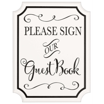 Picture of GUEST BOOK SIGN W/ EASEL