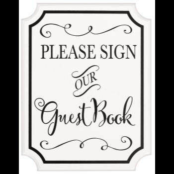Image de GUEST BOOK SIGN W/ EASEL