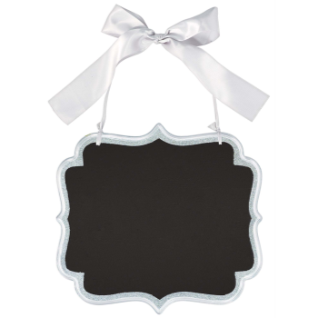 Picture of LG CHALKBOARD SIGN - SILVER GLITTER
