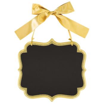 Picture of LG CHALKBOARD SIGN - GOLD GLITTER