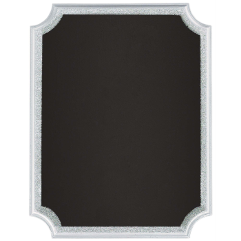 Picture of CHALKBOARD EASEL SIGN - SILVER GLITTER